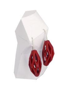 pendientes colgantes diamotea rojos de BaRock jewelry