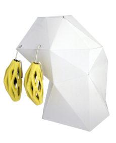pendientes colgantes diamotea amarillos de BaRock jewelry