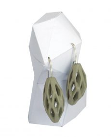pendientes colgantes diamotea verdes de BaRock jewelry