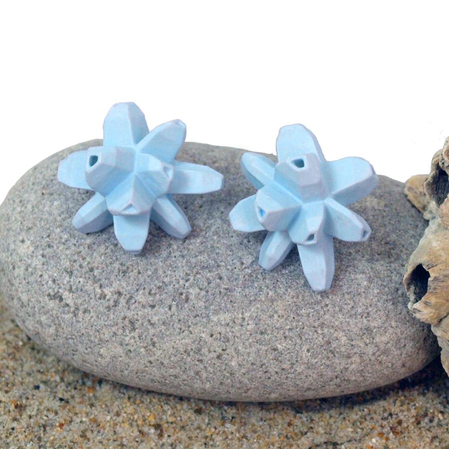 pendientes belaki azul cielo sobre piedra y arena de BaRock jewelry