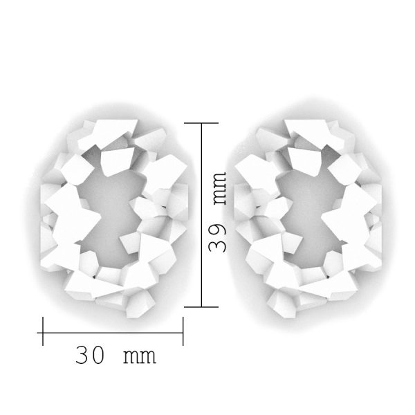 Dimensiones sobre pendientes redondos harria de BaRock jewelry
