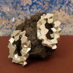 pendientes redondos harria plata sobre piedra de BaRock jewelry