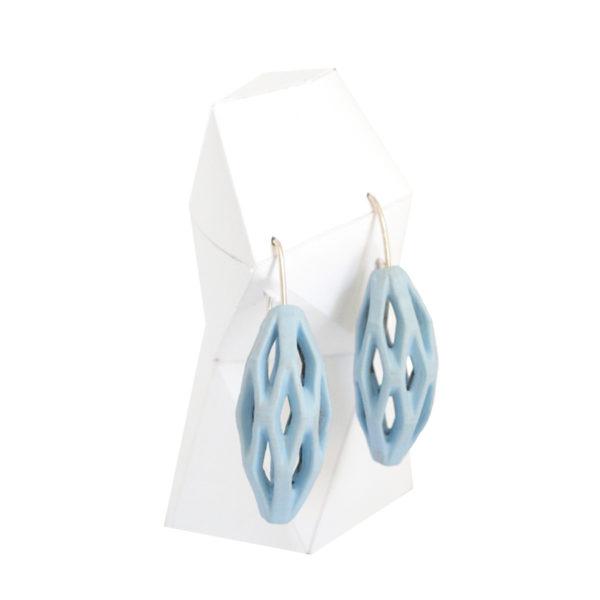 pendientes originales colgantes diamotea azul cielo de BaRock