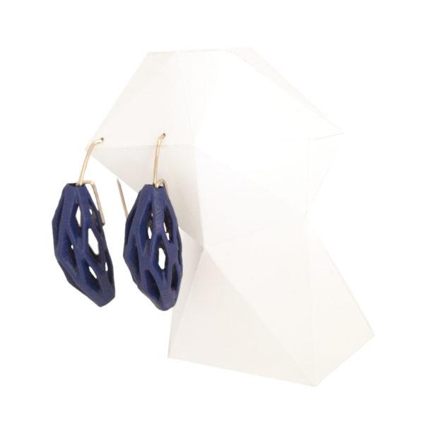 pendientes originales colgantes diamotea azul marino de BaRock