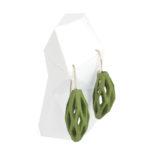 pendientes originales colgantes diamotea verdes manzana de BaRock jewelry