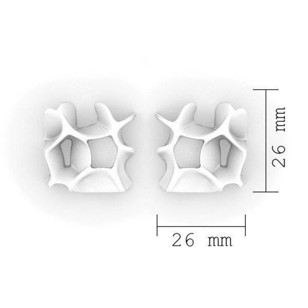 Dimensiones sobre pendientes originales pequeños espina de BaRock jewelry