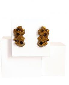 pendientes originales medianos harria acobre sobre expositor de BaRock jewelry