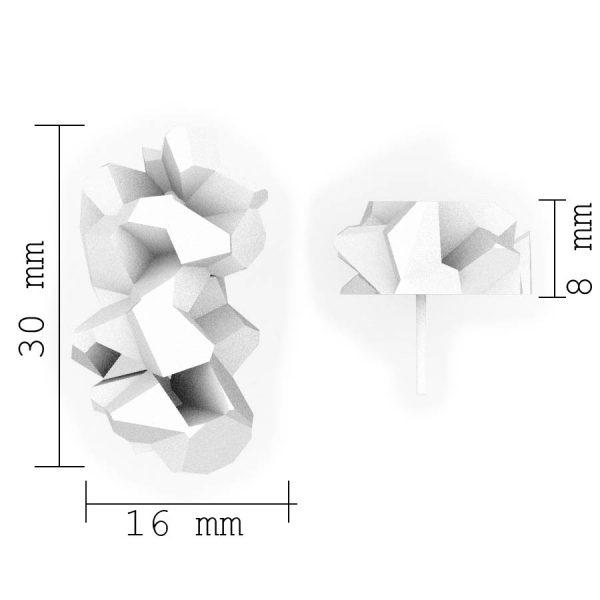 Dimensiones sobre pendientes medianos harria de BaRock jewelry