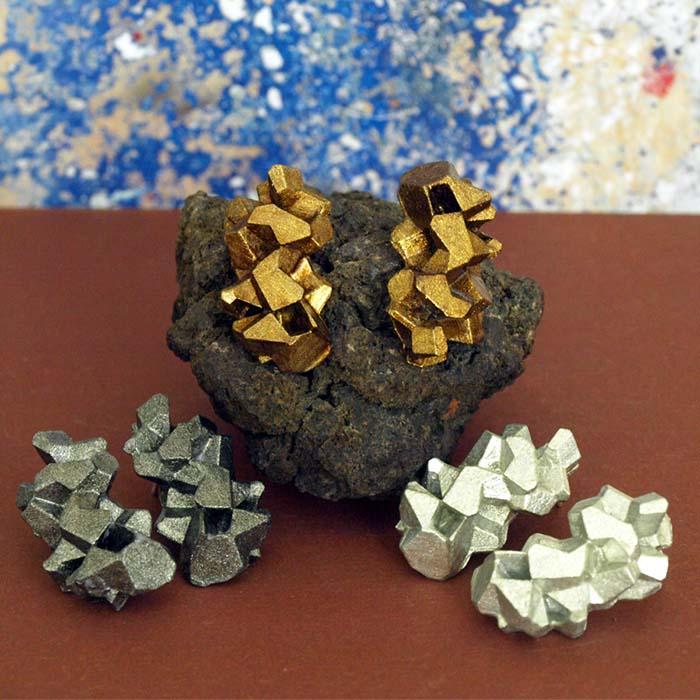 Colección pendientes originales medianos harria plata antracita y cobre