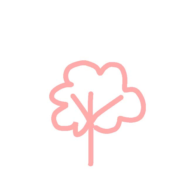 Esquema de árbol rosa