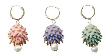 Pendientes de colección lorak rosa, lila y verde BaRock jewelry