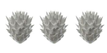 pieza impresa de colección lorak blanco y gris BaRock jewelry joyeria parametrica