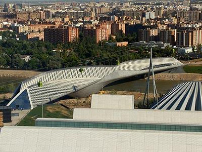 Pabellón Puente de Zaragoza, construido para la Expo