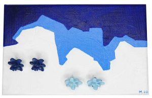 cuadro Maitane Argote Guzman en azules con colección belaki
