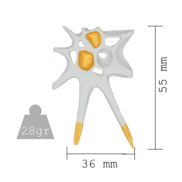 Pendientes espina blancos grandes medidas y peso